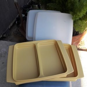 VTG Tupperware Divided Containers (2)